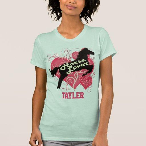 El amante del caballo personalizó la camisa modifi