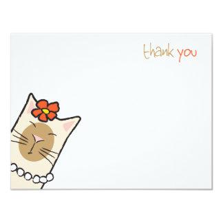 El amante del gato siamés el | plano le agradece invitacion personalizada