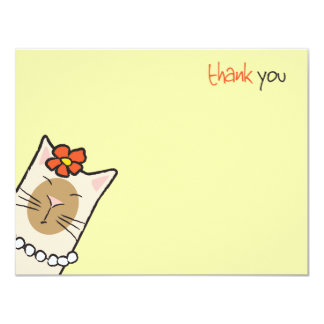 El amante del gato siamés el | plano le agradece invitación 10,8 x 13,9 cm