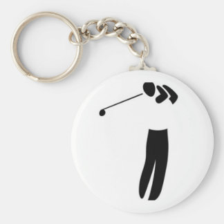 El amante del golf llavero redondo tipo pin