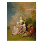 El amante tímido, 1718 tarjeta postal