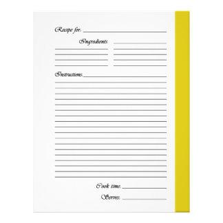 El amarillo 2 echó a un lado las páginas de la rec flyer personalizado