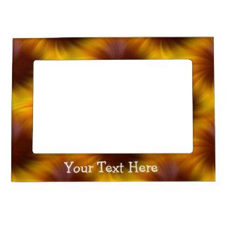 El amarillo abstracto y Brown diseñan el marco mag Marcos Magnéticos Para Fotos