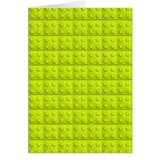 El amarillo bloquea el modelo tarjeta de felicitación