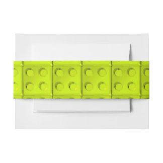 El amarillo bloquea el modelo decoración para invitaciones