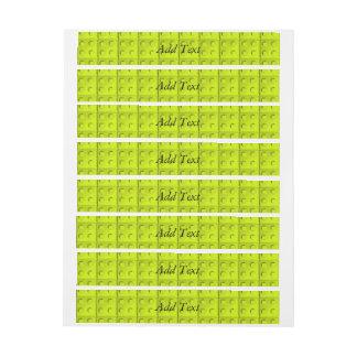 El amarillo bloquea el modelo pegatinas postales