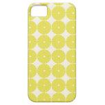 El amarillo bonito circunda discos texturizados fr iPhone 5 cobertura