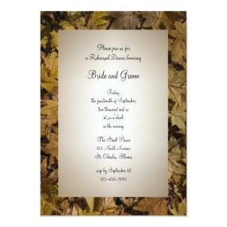 El amarillo caido deja la cena del ensayo del boda comunicados personales
