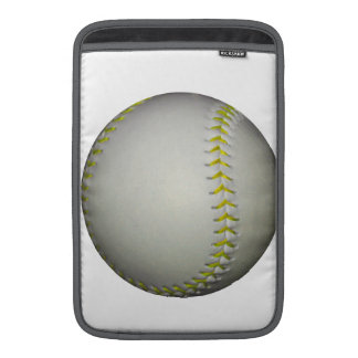 El amarillo cose béisbol softball funda macbook air