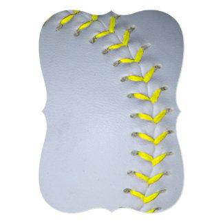 """El amarillo cose béisbol/softball invitación 5"""" x 7"""""""