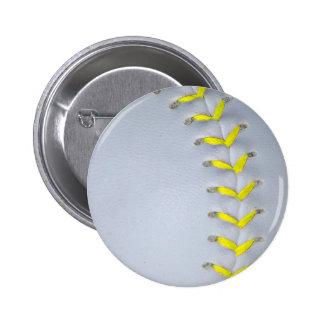 El amarillo cose béisbol/softball pin