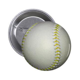 El amarillo cose béisbol/softball pins