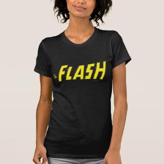 El amarillo de destello del logotipo t-shirt