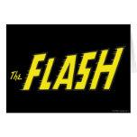 El amarillo de destello del logotipo tarjeta de felicitación