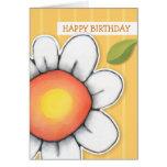 El amarillo de la alegría de la margarita raya la  felicitaciones