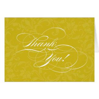 El amarillo de oro de Scripty le agradece Tarjeta De Felicitación