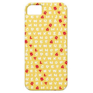 El amarillo del ABC iPhone 5 Carcasas