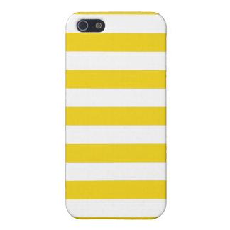 El amarillo del ánimo de limón raya el modelo iPhone 5 fundas