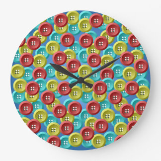 El amarillo del rojo azul abotona el reloj de pare