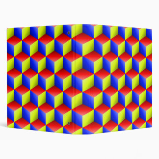 """El amarillo del rojo azul sombreó los cubos de la carpeta 1"""""""