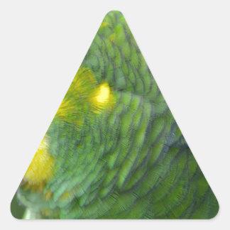 El amarillo dirigió el Amazonas Pegatina Triangular