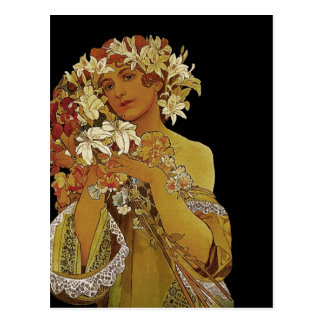 El amarillo florece 1897 postal