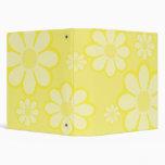 """El amarillo florece 1,5"""" carpeta"""