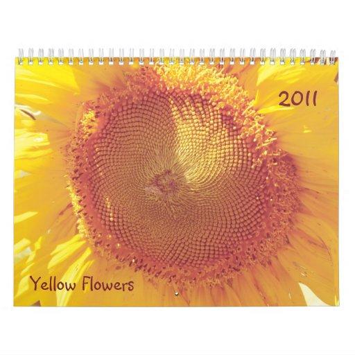 El amarillo florece el calendario 2011