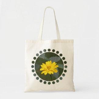 El amarillo florece el pequeño bolso bolsas de mano