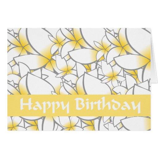El amarillo florece feliz cumpleaños tarjetas