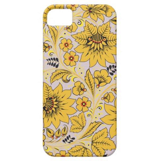El amarillo florece Hohloma Funda Para iPhone SE/5/5s