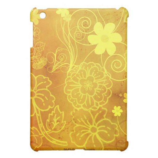 El amarillo florece la caja del iPad