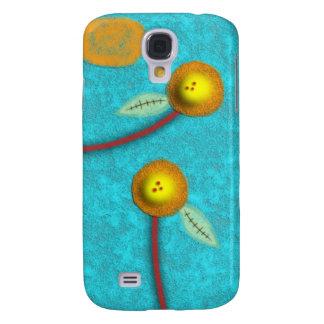 El amarillo florece la caja del iphone 3 del tourq