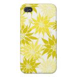 El amarillo florece la caja del iPhone 4 iPhone 4 Cobertura