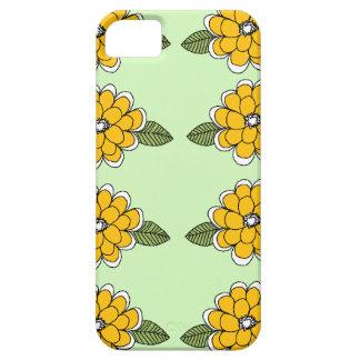 El amarillo florece verde iPhone 5 protectores
