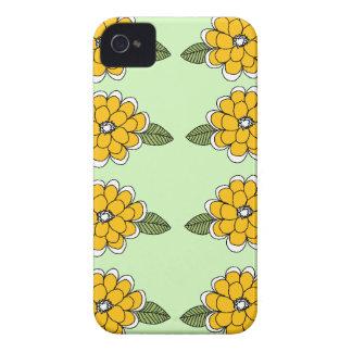 El amarillo florece verde Case-Mate iPhone 4 cobertura