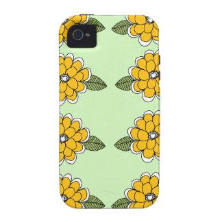El amarillo florece verde iPhone 4 fundas