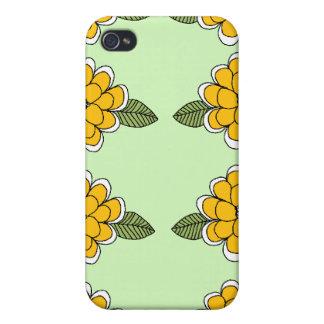 El amarillo florece verde iPhone 4 protector
