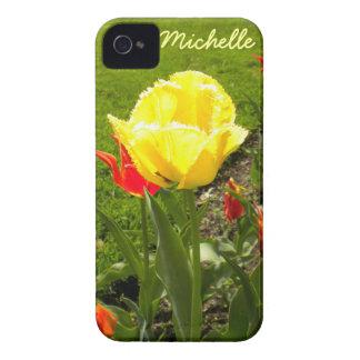 El amarillo franjó la caja del iPhone 4 del iPhone 4 Cobertura
