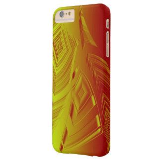 El amarillo graba en relieve la caja del iPhone 6 Funda De iPhone 6 Plus Barely There