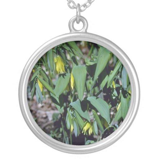 el amarillo Grande-Floreció el Bellwort (Uvularia  Pendiente Personalizado