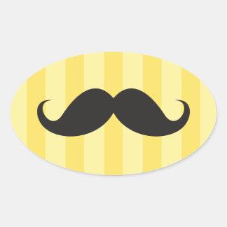 El amarillo negro del bigote raya a los pegatinas