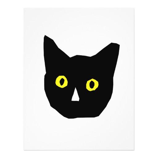 "el amarillo negro principal del gato observa el di folleto 8.5"" x 11"""