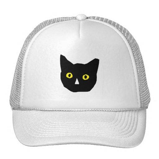 el amarillo negro principal del gato observa el di gorras