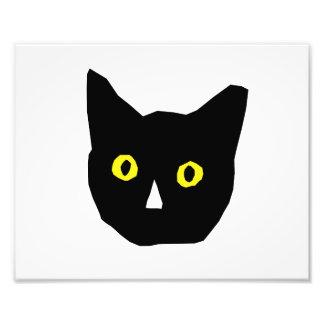 el amarillo negro principal del gato observa el di arte con fotos