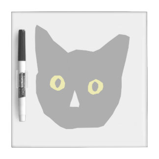 el amarillo negro principal del gato observa el di pizarra