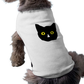 el amarillo negro principal del gato observa el di playera sin mangas para perro