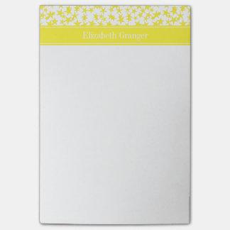 El amarillo protagoniza a BG blanca, monograma Post-it® Nota