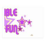 El amarillo púrpura doble de la diversión protagon postal