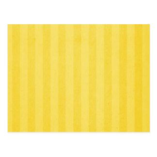 El amarillo raya tarjetas de la receta postal